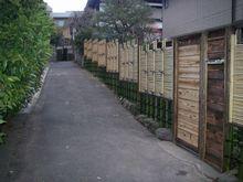 御簾垣 四つ目混合垣 木戸造作