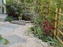 坪庭の竹垣